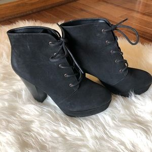 Mossimo Supply Co. black heeled boots